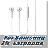 Wholesale Iphone Ear Phones Oem - For Samsung S6 earphone OEM 3.5mm Tangle Free Stereo Headset with Microphone and Volume Key For Smart Phone -Withou Retail Packaging -White