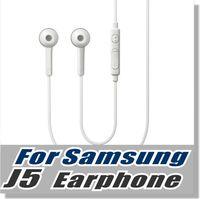 telefones inteligentes brancos venda por atacado-Para samsung s6 fone de ouvido OEM 3.5mm emaranhado livre fone de ouvido estéreo com microfone e chave de volume para telefone inteligente -com varejo embalagem - branco