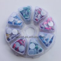 Wholesale Mixed Accessories - Wholesale-Free shipping 280pcs 10mm Mixed Colors Plastic Google eyes for DIY Craft Toys accessory