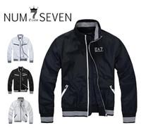 Wholesale Casual Sports Leisure Wear - men jacket BRAND coat tracksuit spring autumn leisure sport men's coat cotton sports wear jackets