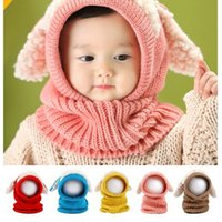 Wholesale Knitted Hats For Dogs - Kids Baby Hand Knitted Hat Children Lovely Dog Design Hat For 6Mos - 3T Years Kids Keep Warm Kids Crochet Hat Five Colors Choosen PX9811
