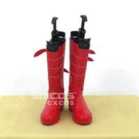 Wholesale Perona One Piece Cosplay - Wholesale-Handmade ONE PIECE Perona Cosplay Shoes Red High Boots Custom-made