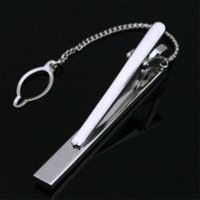 Wholesale Crystal Gifts For Men - LJ-306 Stainless Steel Silver Toned Crystal Wedding Metal Tie Clip Pin Clasp Bar + Gift Box FREE SHIPPING Tie Clip For Men Gift