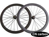 Wholesale Disc Carbon - 50mm Clincher Tubular Disc brake cyclocross carbon road bike wheels 20.5mm,23mm,25mm rim width Novatec D771SB D772SB 3 in 1 hub