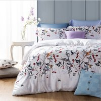 Wholesale King Size Bedding Collections - 2015 New Arrival American Pastoral Floral 60S Tencel 4PCS Bedding Suite Queen King Size Home Collection
