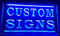sinais conduzidos venda por atacado-LS002-b Cores para escolher sinais personalizados Sinais de néon sinais de LED (Projete sua própria luz com o texto do logotipo)