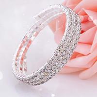 zubehör verkauf großhandel-Mode Kristall Braut Armband Billig Auf Lager Strass Kostenloser Versand Hochzeit Zubehör Einteilige Silber Fabrik Verkauf Brautschmuck
