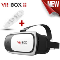 Wholesale Headsets For Helmets - VR Box 2.0 + Gamepad Virtual Reality 3D Glasses Helmet VR BOX Headset For Smartphone 3.5 inch ~ 6 inch with Retail Package