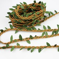 Wholesale Home Wax - 5m Wax Cord With Leaves Artificial Flowers Rattan DIY garland hairband Accessory For Home Decoration Wicker Crafts rope
