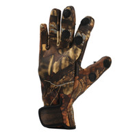 Wholesale Waterproof Hunting Gloves - One Pair Camouflage Winter Durable Fishing Gloves 3 Cut Finger Gloves Silicone Anti Slip Waterproof Outdoor Hiking Sports Gloves