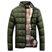 Wholesale New Korean Down Jacket - New men's Jacket cotton padded down teenagers collar Korean Slim casual thick winter coat