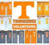 Wholesale Free Ncaa - HOT NEW Tennessee Volunteers college NCAA Jersey 16 Peyton Manning 11 Joshua Dobbs 1 Jalen Hurd Football Jerseys cheap FREE SHIPPING