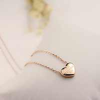 Wholesale Rose Pendent - charm heart necklace 14K Rose Gold Titanium steel women jewelry Pendent Necklace for Women Chain Necklaces & Pendants