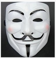 Wholesale Cool Halloween Costumes For Guys - 2017 Hot Sales V for Vendetta Anonymous Movie Adult Guy Hot Halloween Cosplay Cool Costume Mask