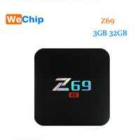 Wholesale Black Network Hd - Z69 android 7.1 tv box Network 2.4G Wifi 10 100M Ethernet S905X Set Top Box 4K 3GB 32GB HD Media Player