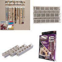Wholesale Jewelry Floor Displays - Wholesale-Adhesive Jewelry earring necklace hanger holder Organizer packaging Display jewelry rack sticky hooks Wall Mount stand tray para