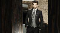 Wholesale Charcoal Suit Silver Tie - Customized 2015 Charcoal Grey Groom Tuxedos Silver Vest and Tie Slim Fit Party Suit Bridegroom Groomsman Suit Jacket+Pants+Tie+Vest
