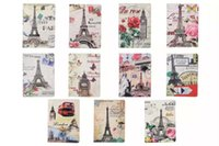Wholesale Ipad Mini Eiffel - Retro Butterfly Flower Eiffel Tower Styles PU Leather Cover Back Stand Case For ipad mini 4 Tablet Case