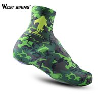 Wholesale Mountain Bike Lock Shoes - Wholesale-Cheji Brand Camouflage Green Shoe Cover Winter Mountain Bike Riding Anti-Dust Overshoes Shoe Lock Riding Equipment Shoe Cover