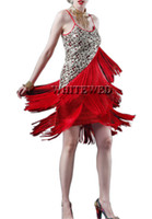 Wholesale Cheap Women Party Clothes - Women's 1920S Vintage Paisley Art Deco Sequin Beaded Tassel Glam Party Gatsby Latin Cocktail Flapper Dress Costume Clothing Style cheap gold
