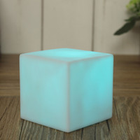 Wholesale Order Led Decor - NEW 7 Color LED Colorful Changing Mood Cubes Night Glow Lamp Light Gadget Gizmo Home Decor Romantic Lighting order<$18no track