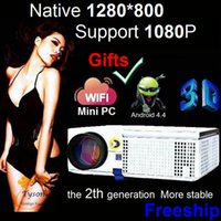 Wholesale Mini Tv Lcd Home - Newest Upgrade LED projector HD Support 1920x1080 Home theater projector with Optional WIFI Mini PC Android TV Proyector