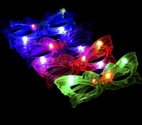 Wholesale Kids Butterfly Earrings - 50PCS HHA372 Butterfly LED Flashing Glasses Light Up Rave Toys For Halloween Masquerade Mask Dress Up Christmas Party Supplies