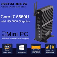 Wholesale Minipc Windows - Wholesale-New Intel 5th Gen Core i7 5557U Mini PC Windows 8.1 Mini Computer Windows 10 compatible Minipc 4K HD HTPC TV box 2* HDMI 2* LAN