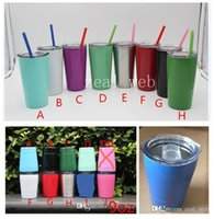 Wholesale Glass Cup Lens - Cheapest!!! 9oz & 12oz tumbler wine glasses Vacuum Insulated mug Stainless Steel Lowball with lid with straw 9oz 12oz kid mug cup