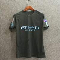 Wholesale Custom Fonts - ^_^ Wholesale 17 18 champions city 3rd fans top quality soccer jersey custom G jesus 33 soccer unfirm football shirts ucl patch font