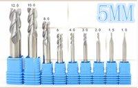 Wholesale Milling Machine Cutting Tools - HRC 55 cnc milling cutter 1 2 3 4 6 8 10 12 mm 50mm longer three aluminum blade cutter Aluminium End Mill Cutter