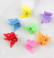 Wholesale Cute Kid Hair Claw Clips - Free Shipping Candy Colors Mini Cute Girl Kids Ponytail Hair Tie Clips Grips Beads Style Accessories TY1419