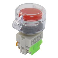 Wholesale Push Button Momentary - FS Hot AC 660V 10A Red Mushroom Momentary Push Button Switch 1NO 1NC w Cover order<$18no track