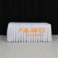 Wholesale Decoration Satin Cloth - Good Looking Satin Table Skirt \ Table Cloth Skirting For Wedding And Event Decoration Free To Door Shipping
