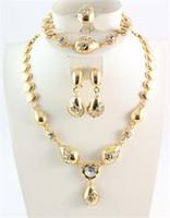 weiße ohrringe kostüm schmuck großhandel-African Schmuck Sets Österreich Weiß Kristall afrikanischen Kostüm Halsketten Armbänder Ohrringe Ringe für Frauen