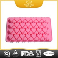 Wholesale Silicone Icing Molds - Silicone Cake Love Heart to Heart Valentine chocolate mold Ice mold ice trays bakeware silicone ice lattice Baking molds chocolate mold 2015