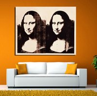 Home Decor Wall Art Canvas Painting Immagini andy warhol Decoration Classica doppia Mona Lisa Stampa su tela No Frame