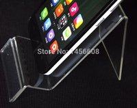 teléfonos móviles de 5 pulgadas al por mayor-Soporte de acrílico del soporte del soporte del teléfono celular soporte de exhibición del teléfono Estante del estante de exhibición contrario para el iphone Samsung de 5 pulgadas HTC HTC MP3 / 4/5 DHL libre