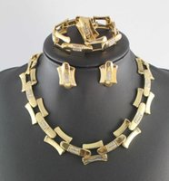 neue mode-accessoires china großhandel-Neue designer vergoldet mode hochzeit braut zubehör armband ohrringe halskette schmuck-set