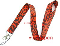 Patrón Popular leopardo mayorista Cordones Llaveros ID Badge Holder U13