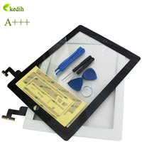 Wholesale Ipad2 Screen Replacement - Wholesale-A+++Quality Guaranteed Front Glass Replacement for ipad2 Touch Screen White  Black Touch Screen Digitizer for ipad 2 +Repair Kit