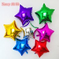 Wholesale Inflatable Star For Party Wholesale - Wholesale-10Pcs 10Inches Foil Star Shape Balloons Helium Metallic Ballons For Wedding Birthday Christmas Party Inflatable Ballons 7 Colors
