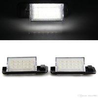 Wholesale Bmw E36 Rear Lights - 2 x 18 LED 3528 SMD DC 12V License Plate Light Lamp White for BMW E36(1992-1998)