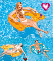 Wholesale Pvc Beach Chairs - Seated Floating Row Fashion Womens & Mens Transparent and Colorful Water Recreation Inflatable Floating Row of Chairs