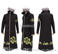Wholesale One Piece Anime Trafalgar - Wholesale-One piece trafalgar law 2 years later cosplay cloak without hat Japanese Anime costumes free shipping