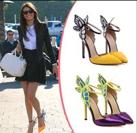 Wholesale Colorful Vampire - Fashion purple women's shoes JC vampire diaries heroine colorful butterfly high-heeled shoes wedding shoes size:35-40#609