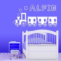 Wholesale Cartoon Train Wall Sticker - Personalised Train Wall Sticker custom-made Childrens Name Vinyl Wall Decals