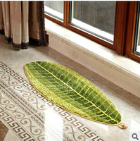 Wholesale NEW TREND bathroom rugs and mats with leaf shape bedroom waterproof mats and carpets mats for living room modern