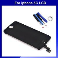 outils d'assemblage iphone achat en gros de-Vente en gros-LCD Assemblée pour Iphone 5C écran LCD avec écran tactile digitizer noir + outils cadeau gratuit