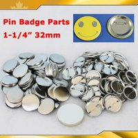 """Wholesale Pinback Button Set - Wholesale-Free Shipping 1-1 4"""" 32mm 1,000 Sets NEW Pro All Steel Badge Button Maker Pin Back Metal Pinback Button Supply Materials"""